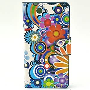 Daisy Flowers Pattern PU Leather Hard Plastic Firm Case for Huawei G6