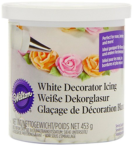 2 x Wilton Decorator Decorating Ready To Use WHITE Icing Frosting Filler (Icing Use Decorator)