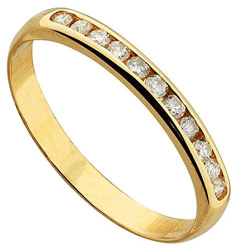 Orleo - REF11996 : Alliance Femme Or 18K jaune et Diamant - 0.20 carat