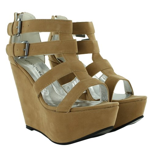 vestir de Sensation sintético marrón Footwear Brown Light de Sandalias para mujer tP14nRq