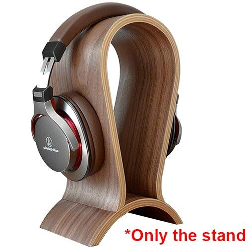 - Viet SF Wood Hangers - Classic Wooden Headphone Headset Stand Earphone Holder Walnut Hanger Headset Display for Beats JBL for Bose Universal Headset