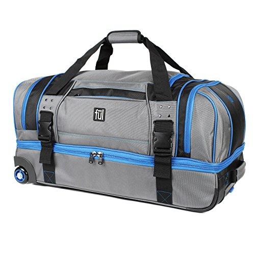 (Ful Streamline 30in Soft Rolling Duffel Bag, Retractable Pull Handle, Split Level Storage,)