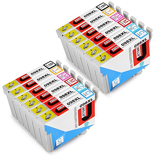 JetSir 2 Set Replacement Epson Ink Cartridge 98XL High Yield, Compatible with Epson Artisan 837 810 730 835 800 725 710 700 600 Printer,2 Black, 2 Cyan,2 Magenta,2 Yellow,2 Light Cyan, 2 Light Magenta