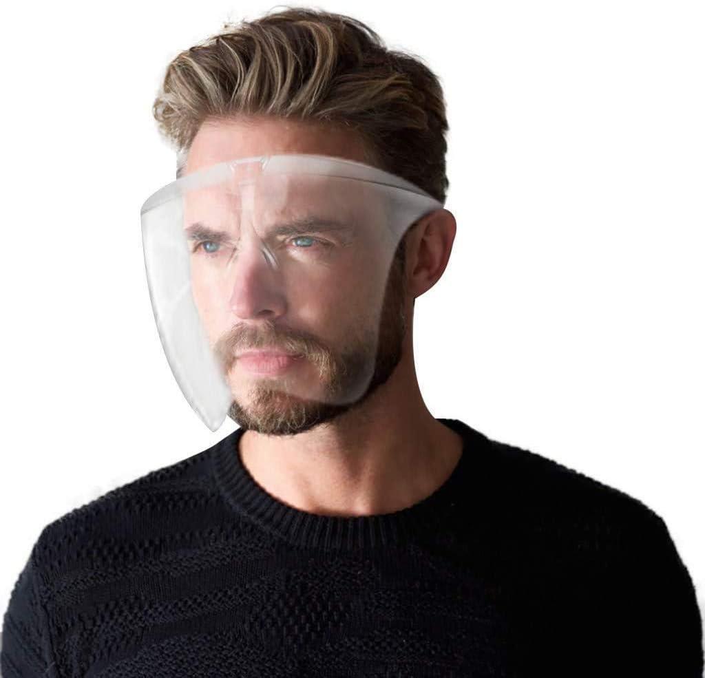 THTH Protector Facial de Gafas de Seguridad Transparente y antivaho, protección Transparente de PVC de Moda Reutilizable, Ojos de protección contra Salpicaduras