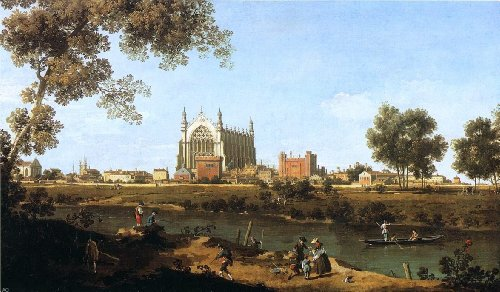 Art Oyster Canaletto The Chapel of Eton College - 18.1'' x 27.1'' 100% Hand Painted Oil Painting Reproduction by Art Oyster (Image #1)
