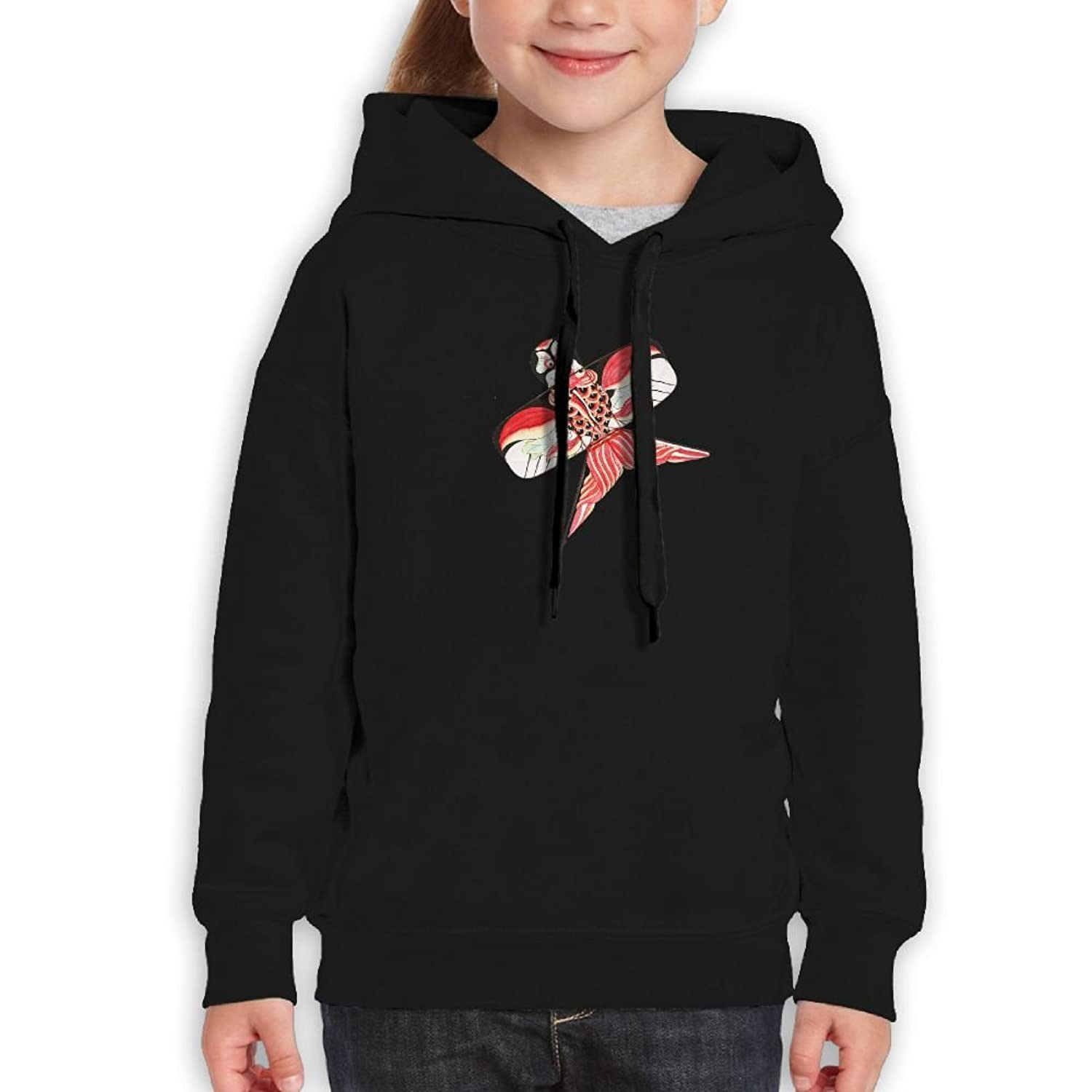 SmallHan Teen Swallow Kite Casual Style Travel Black Hoodies