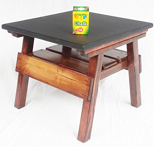 Kids Game and Activity Table, Chalkboard Finish, Wooden Table Game