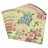 Towashine Vintage Floral Printed Paper Napkins