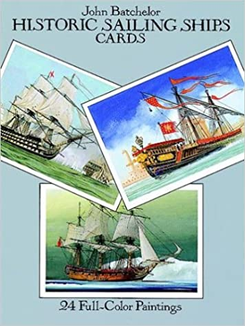 historic sailing ships postcards 24 full color paintings card