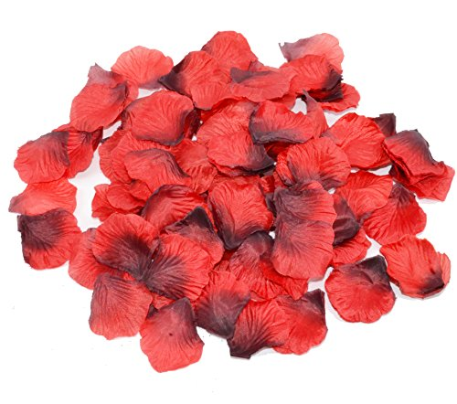 Shenglong 5000 Silk Rose Artificial Petals Supplies Wedding Decorations - Deep Red