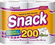 Papel toalha snack com 2 rolos de 100 folhas cada, Snack