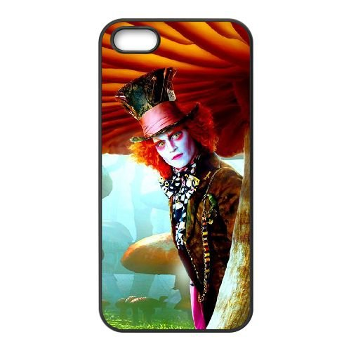 Alice In Wonderland 022 coque iPhone 5 5S cellulaire cas coque de téléphone cas téléphone cellulaire noir couvercle EOKXLLNCD21536
