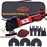 Dobetter Oscillating Tool, 2.8-Amp 6 Variable Speed Oscillating Multi-Tool, Oscillating Saw with Saw Blades and Carry Bag -OT2832
