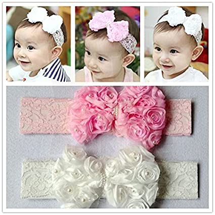 Generic Wholesale Baby Girl Kid Infant Lovely Flower Pearl Lace Hairbands  Headband Toddler Headdress  Amazon.in  Home   Kitchen db6aaa38db9d