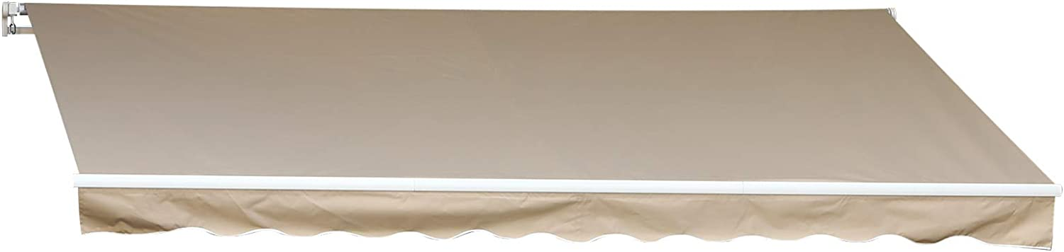Sequoia 13w x10d Outdoor Patio Cover Manual Awning Retractable Sun Shade Shelter #52