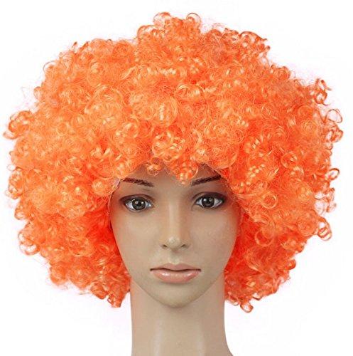 ... Peluca de payaso Peluca de pelo adultos adulto mascarada partido del pelo de Halloween Navidad Cosplay sombrero traje peluca(Naranja): Amazon.es: Hogar