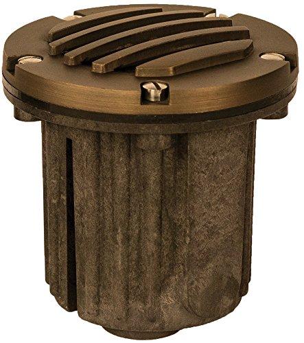 Radar Lighting DM8301BR Low-Voltage Cast-Brass Outdoor Landscape In-Ground Well Light, Bronze Finish