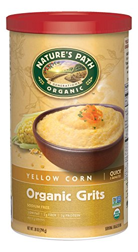 Nature's Path Organic Yellow Corn Grits, 28 Ounce Canister (6 Count)