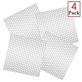 Deloky 4 Packs Metal Dryer Vent Grill -Bird Guards Inserts Stop 3 Inch to 8 Inch Birds Nesting in Dryer Vents and Bathroom Exhaust Vents