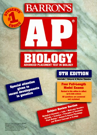Ap Biology: Advanced Placement Test in Biology (5th ed) (Ap Biology Barrons 5th)