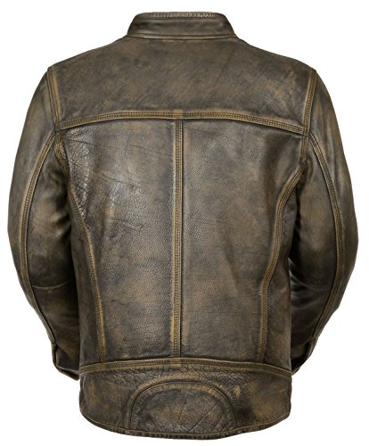 Milwaukee-Leather-Big-Mens-Distressed-Brown-Motorcycle-Jacket-Vents