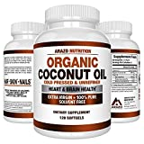 Cheap Organic Coconut Oil 2000mg – 100% EXTRA VIRGIN Cold Pressed for Weight Loss, Skin, Hair, Nails – 120 Softgel Capsules – Arazo Nutrition