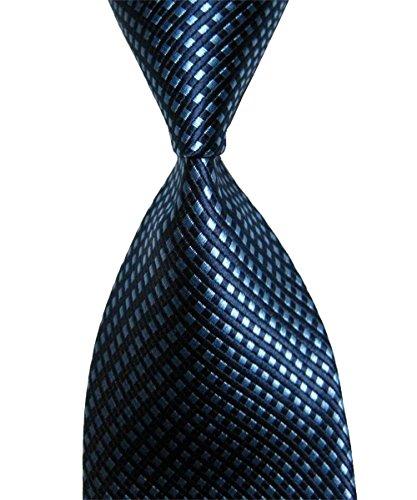 Wehug Men's Classic Stripe Jacquard Woven Silk Tie Formal Party Suit Necktie Neck Navy Blue Ties For Men ld0001