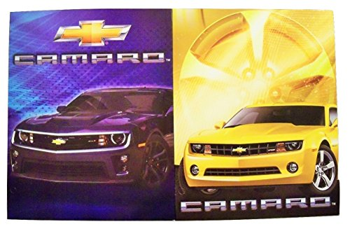 Muscle Car 2 Folder Set ~ Chevrolet Camaro by Innovative Design 101 Black 2015 Camaro Z//28, Red 2015 Camaro 2SS Convertible
