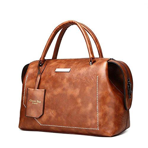puro bolso 33cmx16 tamaño Brown mensajero de 5cmx21cm del color del la bolso Penao de moda portátil hombro PU cuero señora del xnTURUZw4W