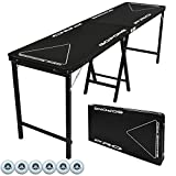 GoPong PRO 8 Foot Premium Beer Pong Table, Heavy Duty, Black, 36-Inch Tall