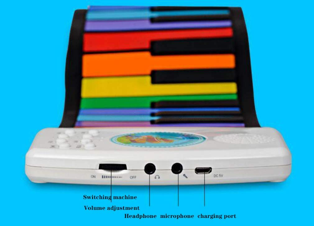 CE-LXYYD 49-Key Folding Piano, Thick Waterproof and Rechargeable Portable Color Electronic Piano, Suitable for Beginners, Best Gift for Children,Color by CE-LXYYD (Image #7)