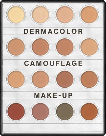 - Kryolan 71006 Dermacolor Camouflage Mini palette, 16 Colors. 3 Color Variations (MEDIUM, Nr.1, Nr. 2) (Nr. 2)