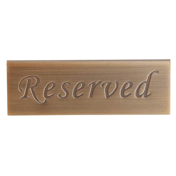 Amazon.com: FRECI 2 soportes de mesa reservados para bodas ...