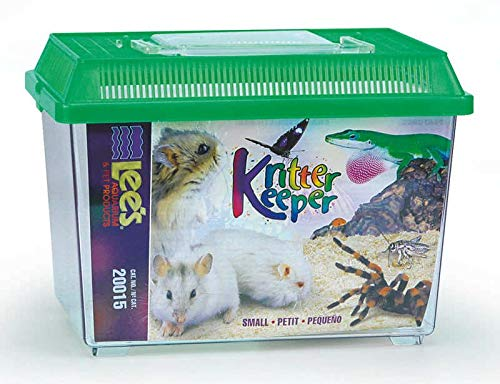 Lee's Kritter Keeper, Rectangle with Lid - Small, Assorted Colors (Portable Reptile Cage)