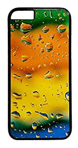 ACESR Colorful Raindrops iphone 5C Hard Case PC - Black, Back Cover Case for Apple iphone 5C( inch)