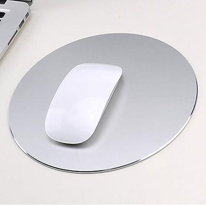 plata de titanio Almohadilla de rat/ón de aluminio del coj/ín de rat/ón Superficie de aleaci/ón de aluminio antideslizante para un control r/ápido y preciso Alfombrilla de rat/ón para juegos de goma
