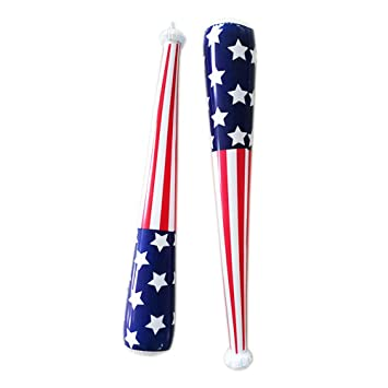 TOYANDONA 6 Unids Inflable Bandera de Estados Unidos Bate de ...