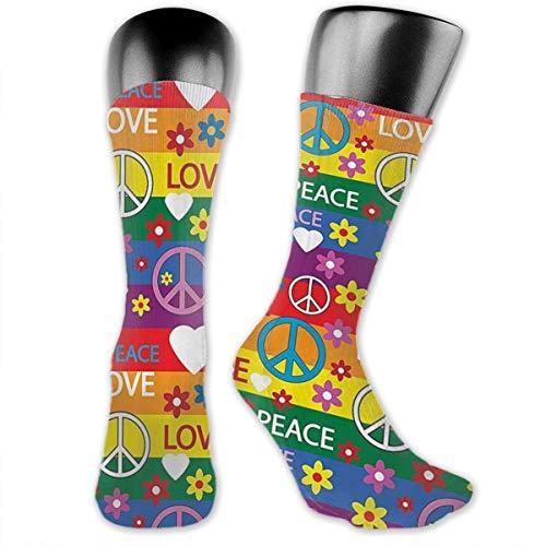 ToneyYun Heart Peace Symbol Flower Power Political Hippie