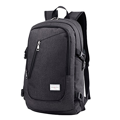 Waterproof Charging ShiningLove Backpacks Casual Black Rucksack Travel Outdoor Multifunction Breathable USB Unisex Eqxqwp40A