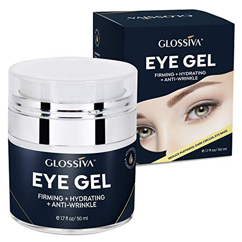 51WXF0fEm6L - Glossiva Eye Gel, Hyaluronic acid for Wrinkles, Fine Lines, Dark Circles, Puffiness, Under Eye Bags - Hydrating, Firming, Rejuvenates Skin - Advanced Repair Formula 1.7 Fl Oz