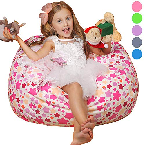 WEKAPO Stuffed Animal Storage Bean Bag Chair for Kids | 38