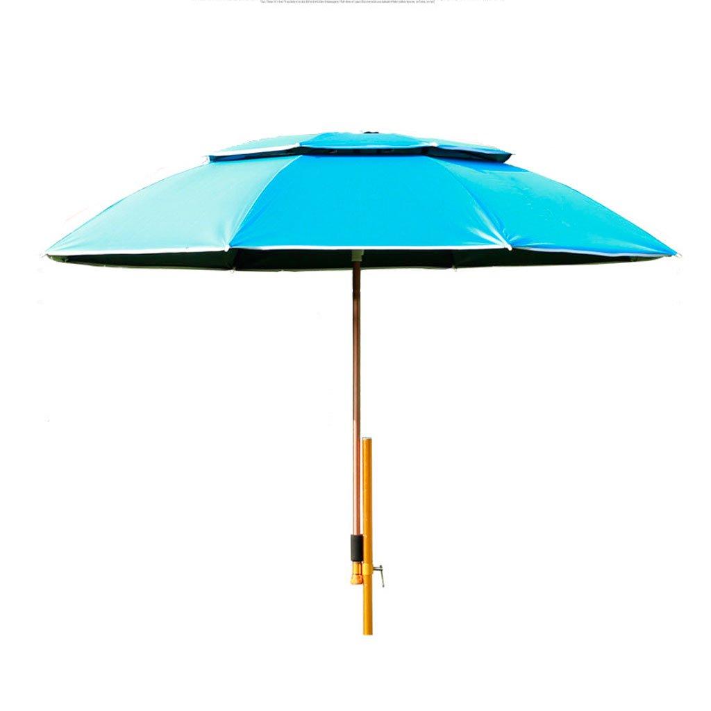 屋外アンブレラ|釣り傘|傘|防風|ユニバーサルフィッシング傘|レインコート| UVプロテクション|サンシャイン釣り傘|釣りタックル  青 B07CYN8RSZ