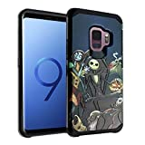 The Nightmare Before Christmas Galaxy S9 Case, IMAGITOUCH 2-Piece Style Armor Case with Flexible Shock Absorption Case Cover for Samsung Galaxy 9 - Nightmare Before Christmas Hybrid