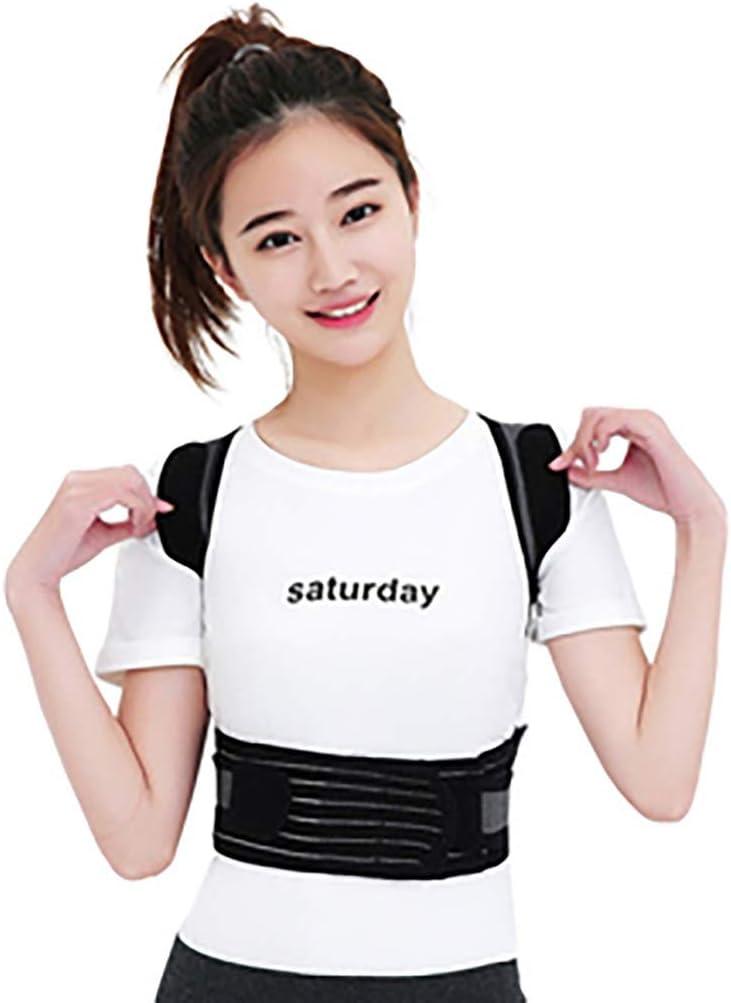 Cinturón de corrección jorobada Espalda Sentado cinturón de corrección espinal Invisible (Color : Black, Size : XL)