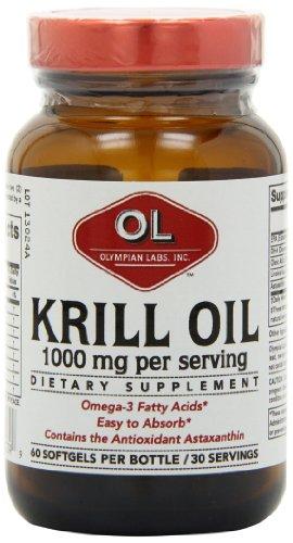 Olympian Labs huile de krill, 60 gélules / 30 Portions
