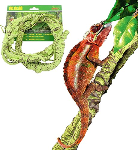 DREAMER.U Flexible Bend-A-Branch Jungle Vines Withe Pet Habitat Decor for Lizard,Frogs, Snakes Chameleon and More Reptiles (Large) by DREAMER.U
