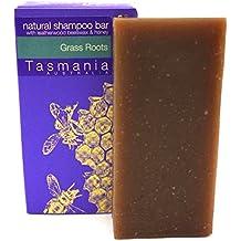 Vetiver & Kunzea Grass Roots Shampoo Bar | Leatherwood Honey for Healthy Shiny Lush Hair 100% Natural Organic Ingredients Sulfate Paraben Free Helps Dandruff Psoriasis | Handmade in Tasmania Australia