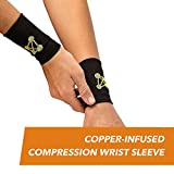 CopperJoint – Copper-Infused Compression Wrist Sleeve, Ergonomic Design Supports Improved Circulation to Help Relieve Stiff, Sore Muscles, Pair (X-Large)