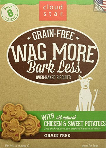 Cloud Star Wag More Oven Baked Grain Free Biscuits - 14 Ounce Chicken, Sweet Potato
