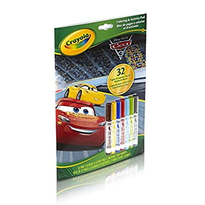Crayola Cars 3 Coloring & Activity Pad with Markers: Toys & Games
